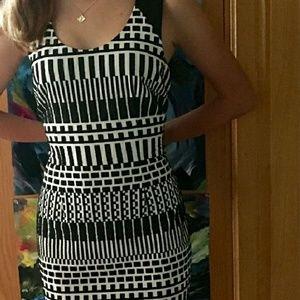 Nicole Miller Artelier dress Leather accent size 6